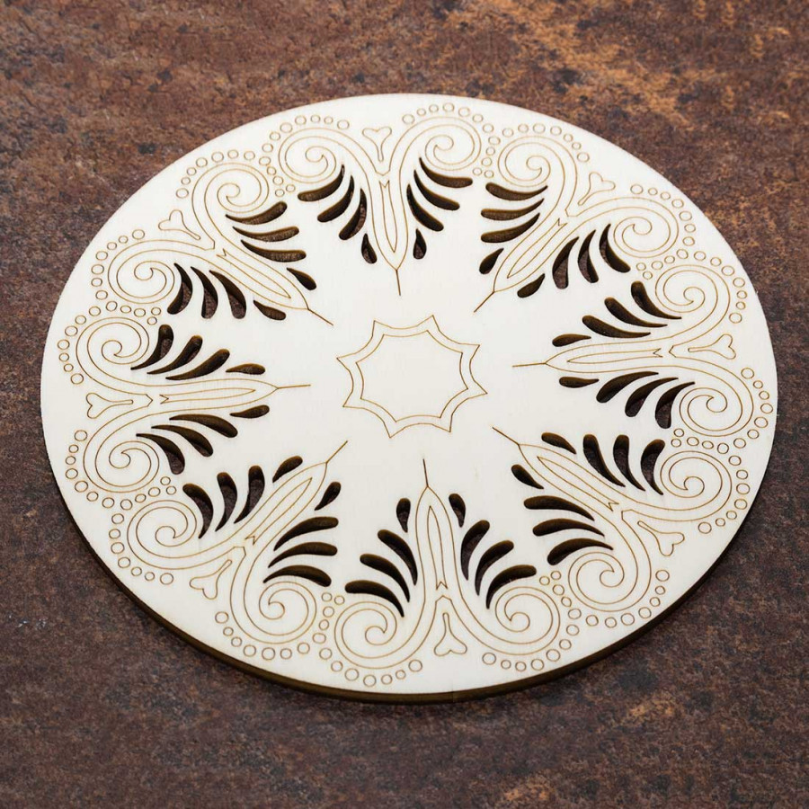 new style 69c0e 17413 Dessous de plat en bois mandala rétro