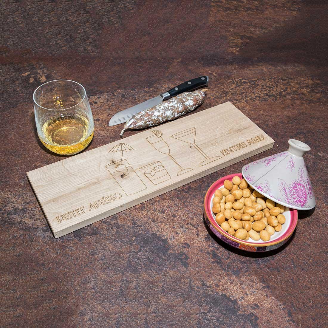 Planche à découper en bois : la planche apéro